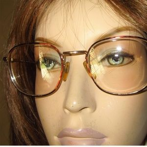 Vntg BERDEL ITALIAN COUTURE Eyeglasses Gold Plated